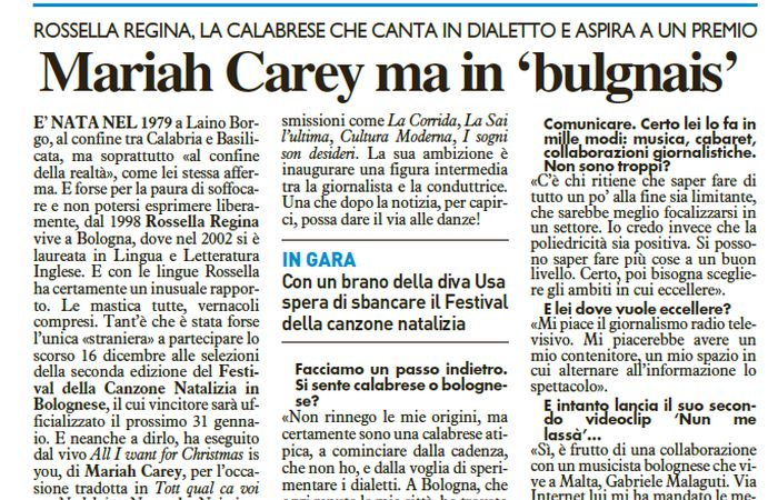 Mariah Carey in bolognese