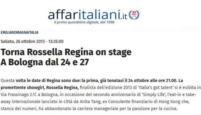 Rossella ai Teatri Alemanni e San Salvatore