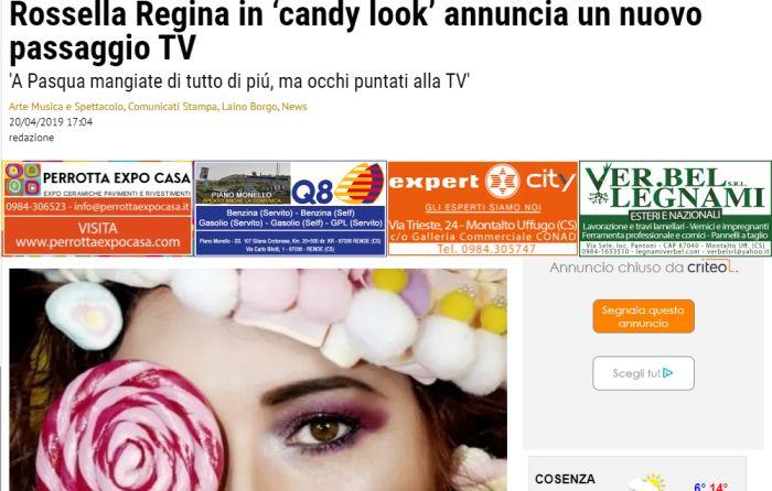 Candy Look 'con annuncio'