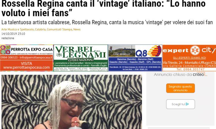 Rossella canta il 'vintage'